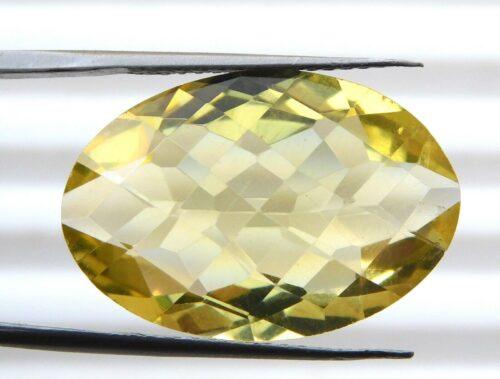 קוורץ לימוני Quartz-crystal מלוטש לשיבוץ - אפריקה במשקל: 17 קרט