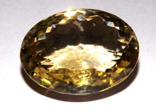 קוורץ לימוני Quartz-crystal מלוטש לשיבוץ - אפריקה במשקל: 29.5 קרט