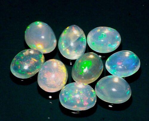 """אופל אש Opal מלוטש לשיבוץ - אתיופיה במידה: 4*5 מ""""מ"""